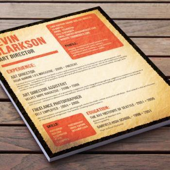 Old Style Resume Design - The Wanted Poster