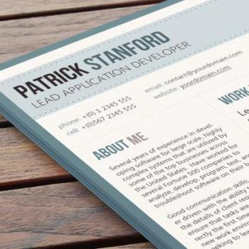 Conservative Resume Design - Zeitgeist Light