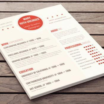 Clean Resume Design - Au Courant Style